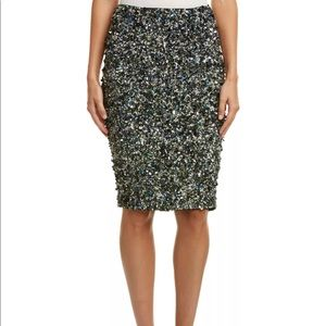 Haute Hippie sequin pencil skirt